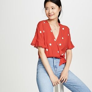 Rails | Athena Wrap Top in Scarlet Dots